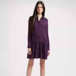 Theory Purple Sheer Dress Size 2